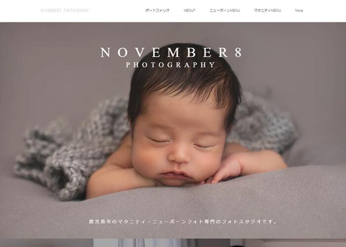 November8 photographyのキャプチャ画像
