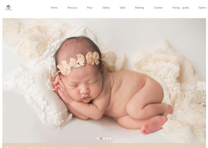 Mimi newborn photographyのキャプチャ画像