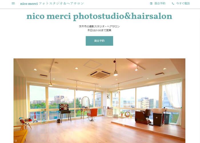 nico merci photostudio & hairsalonのキャプチャ画像