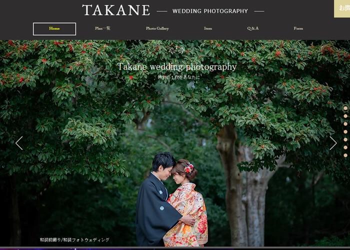 TAKANE WEDDING PHOTOGRAPHYのキャプチャ画像